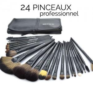 Pinceaux Professionnels Maquillage Yeux Visage 32 Pieces Noir Set voyage Makeup