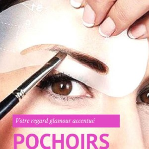 Pochoirs a Sourcils Kit 8 calques Brow Fashion Makeup
