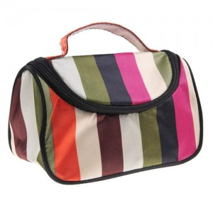 Trousse Maquillage Toilette Voyage Compartiment Zippee Makeup Rayee Fantaisie