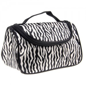 Trousse Maquillage Toilette Voyage Compartiment Zippee Makeup Zebre