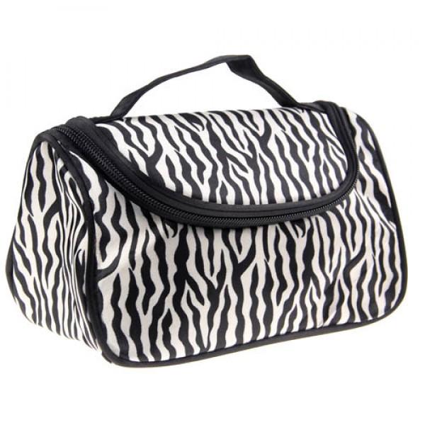 trousse maquillage toilette voyage compartiment zippee makeup zebre. Black Bedroom Furniture Sets. Home Design Ideas