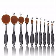 Kit 10 Pinceaux Professionels Oval collection Gold Visage Contour Yeux