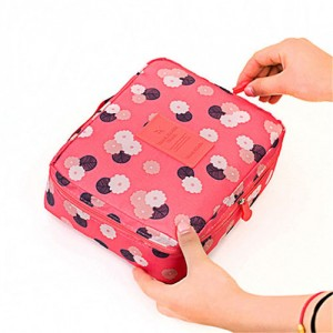 Trousse Beaute Voyage Maquillage Compartiment Detachable Makeup Pink Flower
