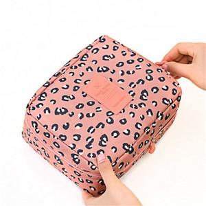 Trousse Beaute Voyage Maquillage Compartiment Detachable Makeup Leopard Pink