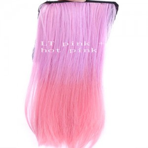 Extensions Cheveux Raide Tie & Dye Delave Colore Kylie Look Rose clair