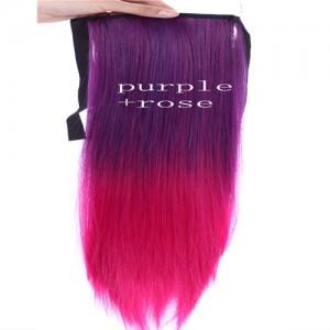 Extensions Cheveux Raide Tie & Dye Delave Colore Kylie Look Violet Fushia