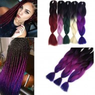 Extensions Cheveux Meches Tresse africaine Afro Braid Ombré Tie Dye