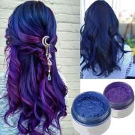 Cire coloree Cheveux Bleu/violet Lavable Femme Unisex Fashion Hairstyle