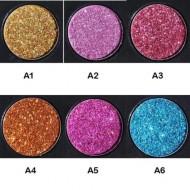 Palette 6 Fards a Paupieres Glitter Ombres Irisees Paillette