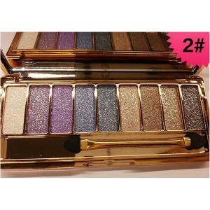 Palette 9 Fards a Paupieres Ombres Irisees Glitter Paillette Makeup #2