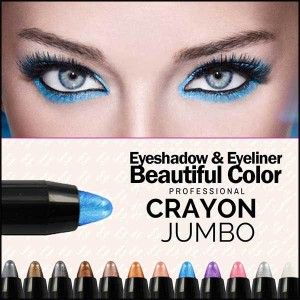 Crayon Jumbo Yeux Professionnel Smoky Fard Paupieres Ombres Irisées Makeup
