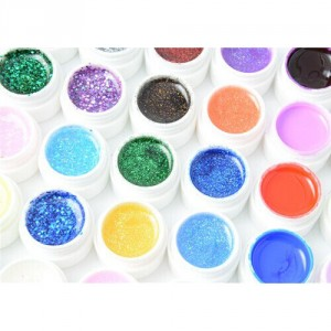 Vernis Gel UV 36 Couleurs Paillettes Glitter Mix Pure color Laque Nail Art Ongles