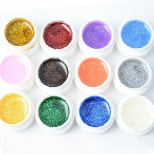 Vernis Gel UV 12 Couleurs Paillettes Glitter Nail Art