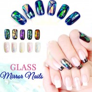 Nails Mirror Broken Glass 5 colors Set Decal Nail art Ongles Verre Miroir