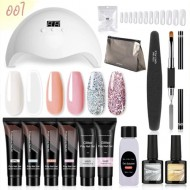 Kit Polygel Manucure Pro Lampe Uv 6 couleurs