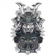 Tatouage Flash Body Tattoo Homme Oriental Asiatique Soldat Samourai Combat