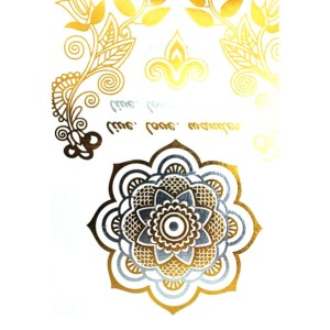 Tatouage Ephemere Fantaisie Fashion Summer Glitter Dore Argente Sticker 11