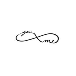 Tatouage Ephemere 20 Infinity Toi & Moi Noir Doigts Poignets Tattoo Fashion Summer Sticker 20