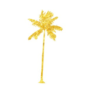 Tatouage Ephemere 22 Palmiers Dore Palms trees Tattoo Fashion Summer Sticker 22