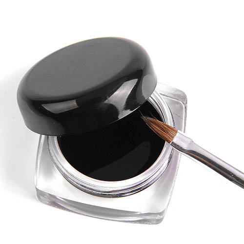 eyeliner noir waterproof gel liner avec pinceau maquillage yeux cats eyes. Black Bedroom Furniture Sets. Home Design Ideas