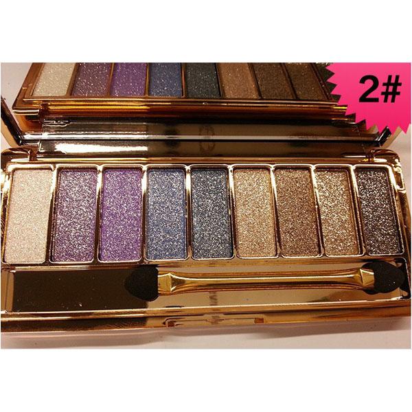 palette 9 fards a paupieres ombres irisees glitter paillette makeup 2. Black Bedroom Furniture Sets. Home Design Ideas