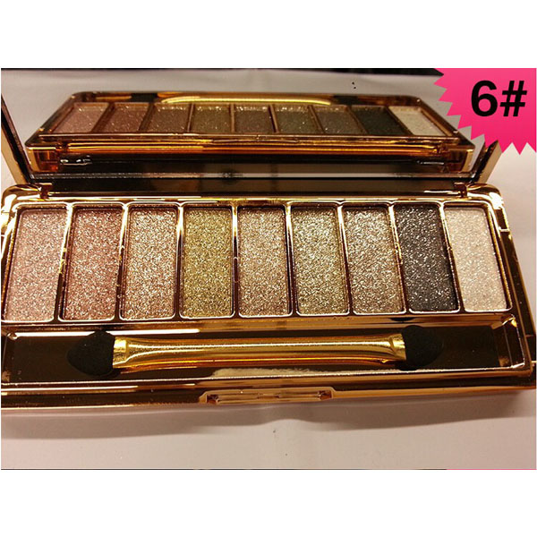palette 9 fards a paupieres ombres irisees glitter paillette makeup 6. Black Bedroom Furniture Sets. Home Design Ideas