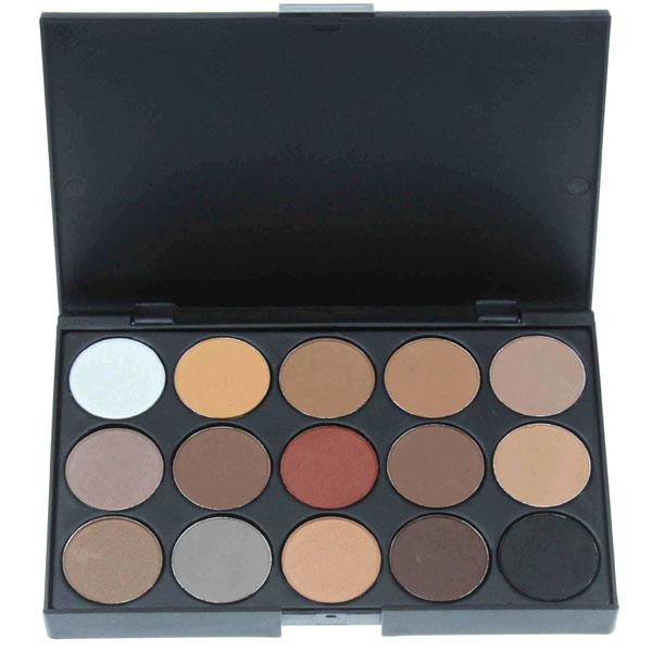 palette professionnelle 15 couleurs yeux fards mats nude marron neutral eye makeup. Black Bedroom Furniture Sets. Home Design Ideas